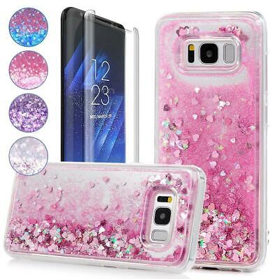 $ CDN10.87 • Buy Samsung Galaxy S8 Liquid Glitter Sparkly Clear Protective Shockproof Case Cover