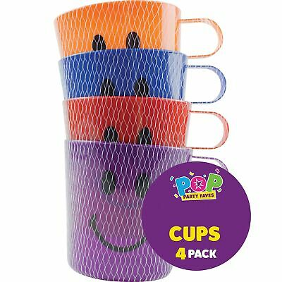 4pc Party Gift Bag Toddler Childrens Kids Cups Beach Drinking Mugs Beaker • 2.99£