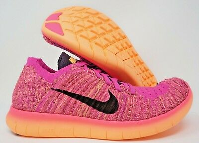 size 40 ea153 6bc08 Nike Free RN Flyknit GS Womens Running Shoes Pink Purple Violet Multi Size  • 69.99