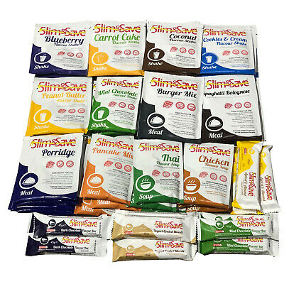 £47.99 • Buy Slim & Save - 56 Mixed VLCD Diet Meals, Shakes, Soups & Bars 2 Weeks Supply