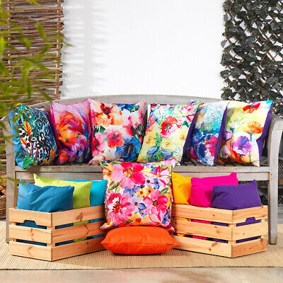 £16.99 • Buy Outdoor Cushion Water Resistant Fabric Garden Floral Cushions Patio Chair Seat