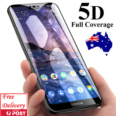 AU5.98 • Buy 5D Full Coverage Tempered Glass Screen Protector For Nokia 2.1 6 2018 6.1 7 Plus