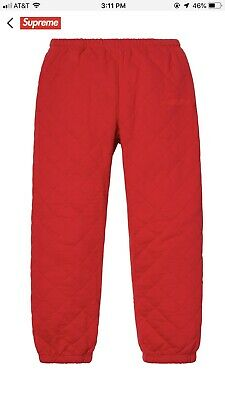 $ CDN246.68 • Buy Supreme Quilted Sweatpants Small In Red Brand New In Original Bag W Stickers