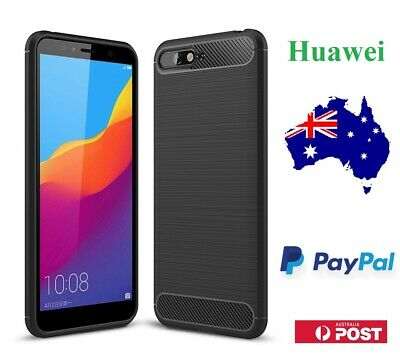 AU6.99 • Buy Carbon Fiber Heavy Duty Case Cover Protector For Huawei Y5 Y6 2018 Y7 Pro 2019