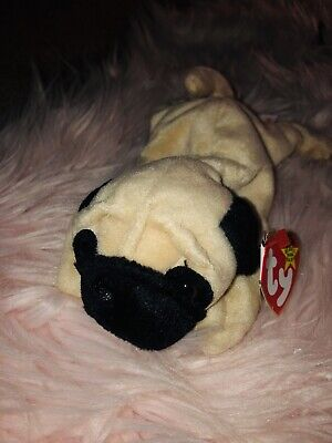 155c0879b69 Pugsly Rare Retired 1996 Beanie Baby With Errors And P.V.C. Pellets •  100.00