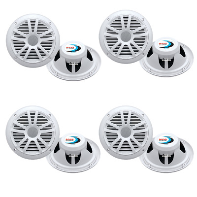 $91.99 • Buy Boss Audio MR6W 6.5  180W Dual Cone Marine/Boat Speakers Stereo, White (8 Pack)