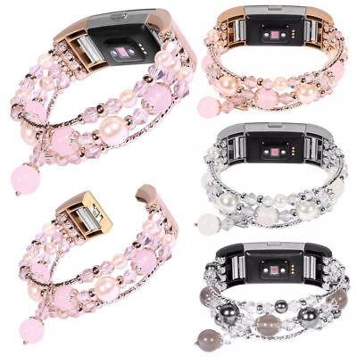 $ CDN18.28 • Buy For Fitbit Alta / HR Real Pearl Watch Bands Pearl Natural Bracelet Bead Strep US