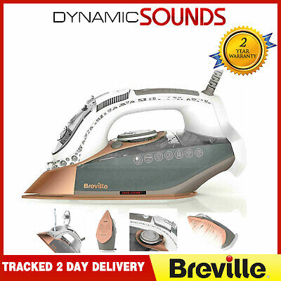 View Details BREVILLE VIN401 DiamondXpress Steam Iron Anti Scale 70g/min Vertical Steam 3100w • 39.99£