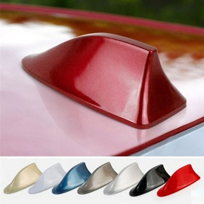 Car Shark Fin Antenna Cover AM FM Radio Signal Aerial Adhesive Tape   Red • 10.99£