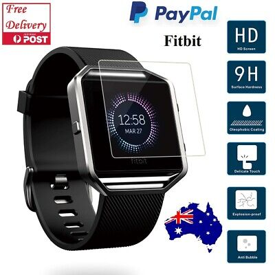 AU4.44 • Buy 2xTempered Glass Clear Screen Protector Guard For Fitbit Blaze Versa Smart Watch