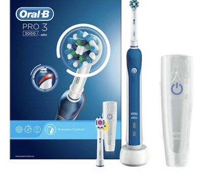View Details Braun Oral-B PRO 3 3000 Cross Action Electric Rechargeable Toothbrush  + 2 Head • 47.95£