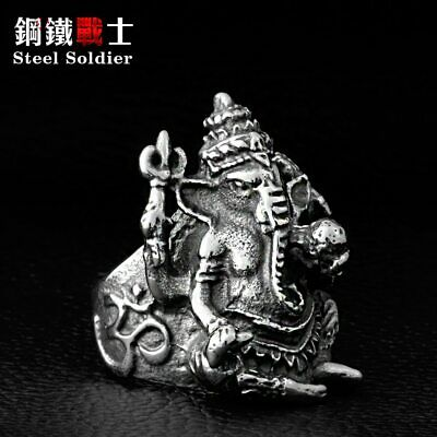 £5.79 • Buy Ring For Men Thailand Elephant Buddha Ganesh Top Quality Stainless Steel