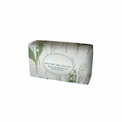 £8.49 • Buy English Soap Co Lily Of The Valley Wrapped Soap Bar 200g Scented Bath Gift Idea