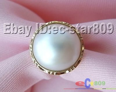 $199.90 • Buy 14kt  REAL 20MM WHITE SOUTH SEA MABE PEARL P790