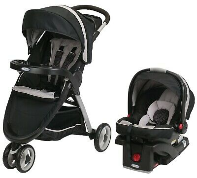Graco Baby FastAction Fold Sport Click Connect Travel System Pierce • 200.72£