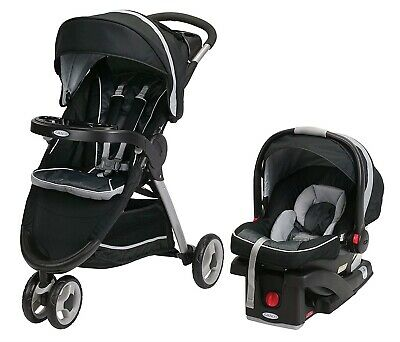 Graco Baby FastAction Fold Sport Click Connect Travel System Gotham New • 200.72£