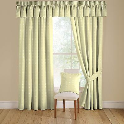 £44.99 • Buy Montgomery Natural Nico Lined Curtains Pencil Heading 90 X 90 SS06 46