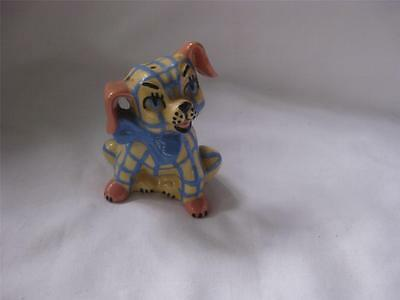 $12.99 • Buy Ceramic Arts Studio Blue Plaid Bow Tie Dog 2-Hole Pepper Shaker 1950s