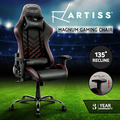AU289 • Buy Artiss Gaming Office Chair Computer Desk Chairs Racing Recliner Seat Black