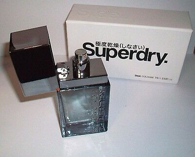 Superdry Cologne, Steel 75 Ml NEW IN BOX CR075 AC-15 • 24.29£