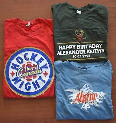 $ CDN38.24 • Buy COLLECTION Canadian Beer T-Shirts Alpine KEITHS Budweiser HOCKEY NIGHT IN CANADA