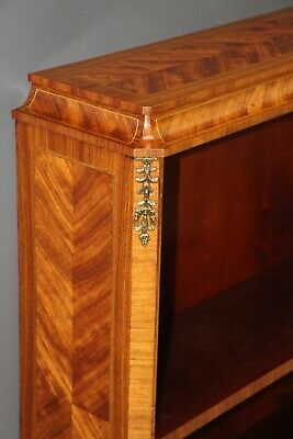 AU1880 • Buy  Antique French Satinwood Marquetry Open Bookcase Art Deco Ormolu Bronze Mounts