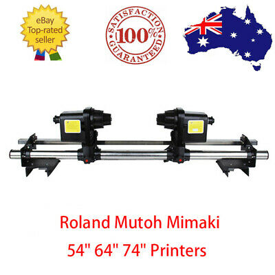 AU371.07 • Buy 220V Automatic Media Paper Take Up Reel 2 Motors For Roland/Epson/Mimaki Printer