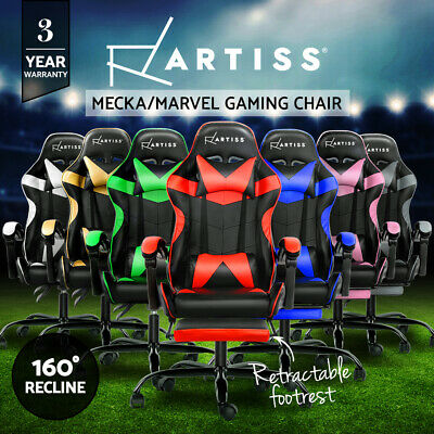 AU209.90 • Buy Artiss Gaming Chair Office Chairs Executive Computer Footrest Racing Recliner