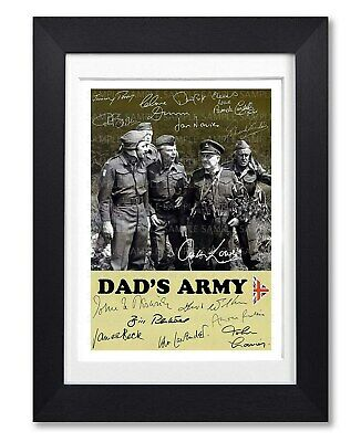 £7.99 • Buy Dads Army Cast Signed Poster Print Tv Show Series Season Photo Autograph Gift