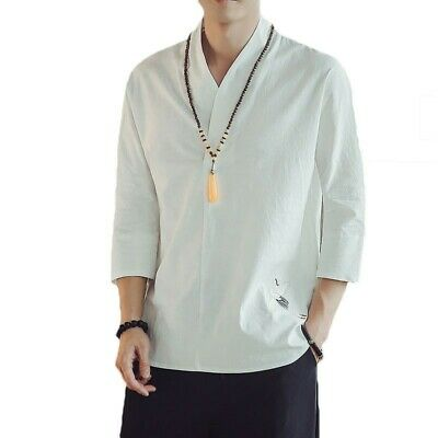 $81.34 • Buy Mens Chinese Style Crew Collar Retro Long Sleeve Han Suit Liner Coat Spring News