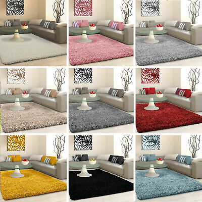 SHAGGY RUG 5cm HIGH PILE SMALL EXTRA LARGE THICK SOFT LIVING ROOM FLOOR BEDROOM • 16.75£