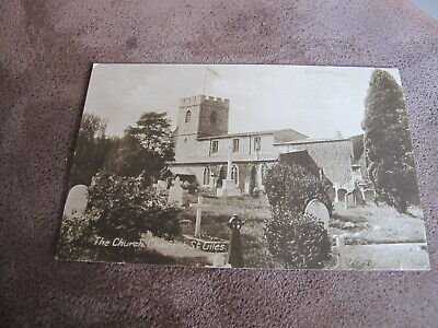 Early Buckinghamshire Postcard - The Church -Chalfont St Giles - Chilterns • 1.40£