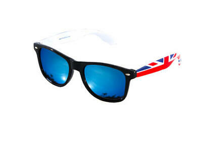 Fashion Wedding Sunglasses With Union Jack Arms Blue Mirror Mirrored Designer • 4.99£