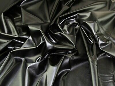 Soft Stretch Faux Leather Fabric (C8077-M) • 10.99£