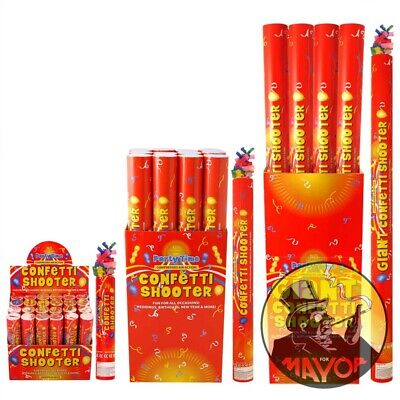 £8.95 • Buy 20 50 80cm Party CONFETTI Cannons Poppers Shooter Wedding New Years Large Giant