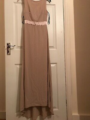 TFNC Mink Bridesmaid Dress Size 8 With Ribbon Bow Back Detail • 30£