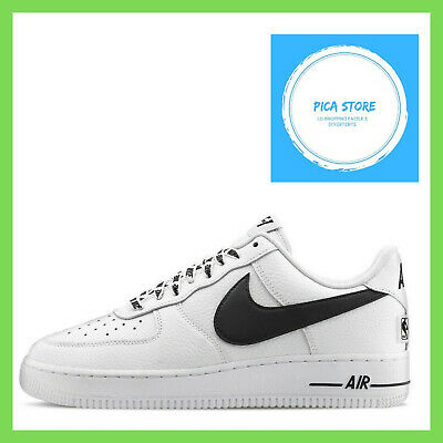 252b434ccffc3d Nike Air Force One 1 Low 07 Nba White Black Uomo Donna Bianco Nero 823511  103
