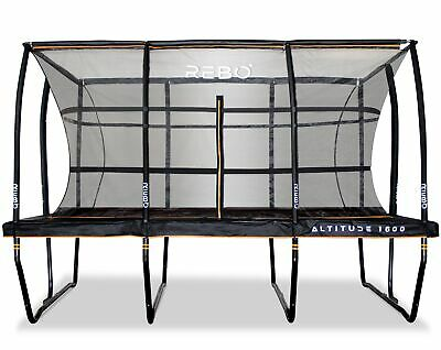 £999.95 • Buy Rebo Altitude Rectangle 12ft X 16ft Trampoline & Safety Enclosure -Altitude 1600