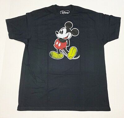 $9.99 • Buy Mickey Mouse Distressed - Disney - Men's X-Large Black T-Shirt  Graphic Tee  XL
