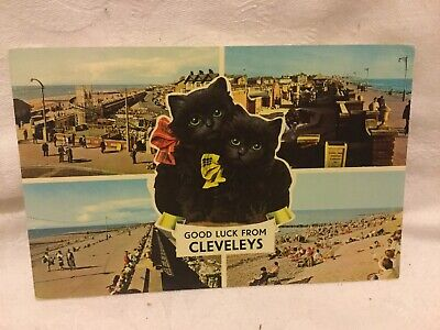 £2 • Buy Old Postcard  Good Luck From Cleveleys