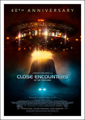 £9.45 • Buy CLOSE ENCOUNTERS OF THE THIRD KIND 1977 Steven Spielberg - Movie Cinema Poster