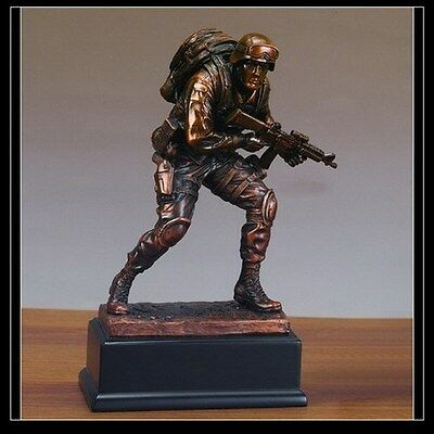 $72.62 • Buy Military Armed Forces MARINE Beautiful Bronze Statue / Sculpture Brand New