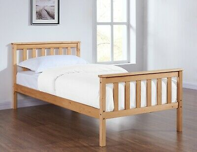 Solid Pine Wooden Single Bed Frame 3FT Modern Design Mattress Optional New • 74.99£