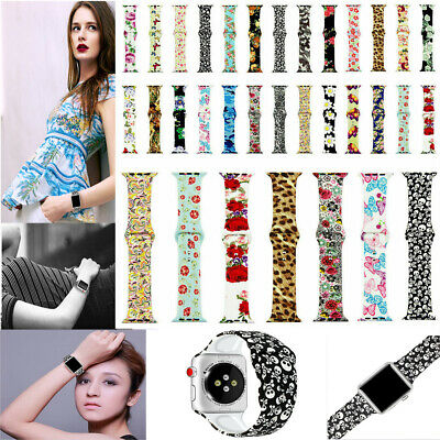 $ CDN10.91 • Buy Silicone Prints Strap Band For Apple Watch SE Series 6 5 4 3 2 1 40/44M 38/42MM