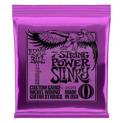 AU9 • Buy Ernie Ball 2620 Power Slinky 7-String Nickel Wound Electric Guitar Strings - 11-
