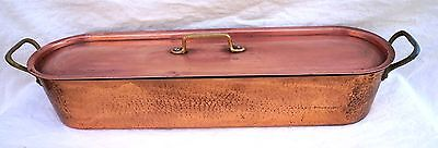 $250 • Buy French  Cookware Tined Hammered Copper Fish Poacher Steamer Large Mint