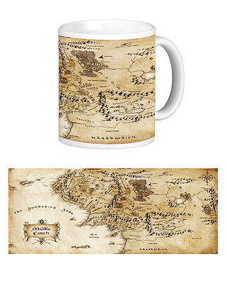 Middle Earth Map Mug. Tolkien. Books. Geeky. The Hobbit. Lord Of The Rings • 9£