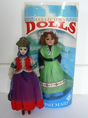 Vintage Cornish Maid Collectors Doll Boxed Rexard Woman National Costume Figure • 7.50£