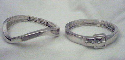 $ CDN25.80 • Buy Lot 2 Signed Lia Sophia Silver Tone Bracelets Belt Buckle & Twisted Band