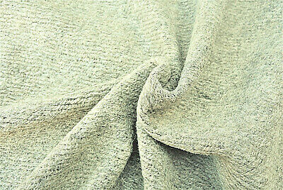 £6.99 • Buy Light Oatmeal Chunky Ribbed Knit Boiled Wool Cashmere Blend Made In Italy D249